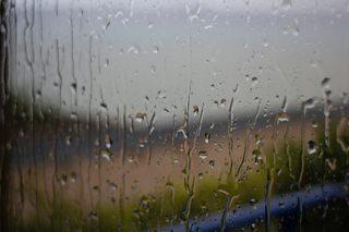 Rain on a windowpane