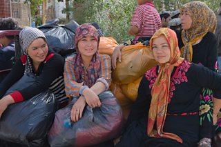 Uighur women in Hotan, Xinjiang province, China