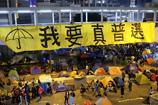 Final sit-in of the 'Umbrella Revolution' protesters, Hong Kong, 11th Dec, 2014