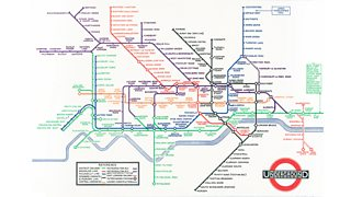 A map of the London underground.