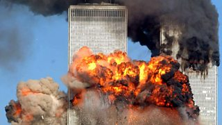 Image showing plane crashing into World Trade Centre on September 11th 2001