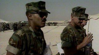 Image showing US troops in Saudi Arabia in 1990