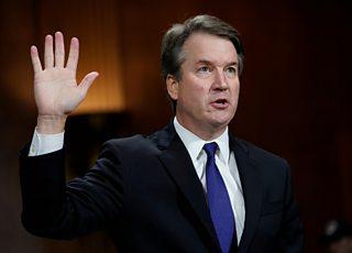 Judge Brett Kavanaugh is sworn in, Senate Judiciary Committee, Washington, 2018