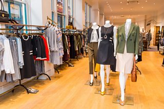 Interior of women's clothes shop