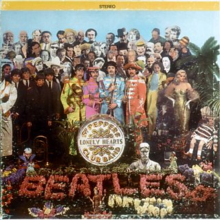 The album cover of Sgt. Pepper's Lonely Hearts Club Band.
