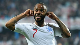 p074l3k8 - Reaction to England's win over Montenegro and racist abuse of players