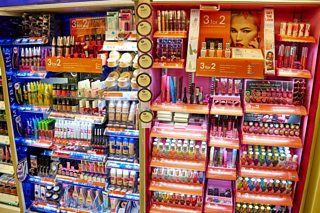 Make-up counter in Boots