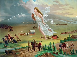 American Progress. Painting by John Gast c1873