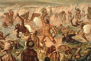 Painting by Cassilly Adams showing Custer's Last Stand