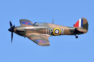 A preserved RAF Hurricane aircraft