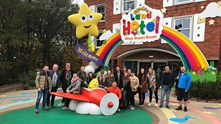 The Children's team outside CBeebies Land Hotel.