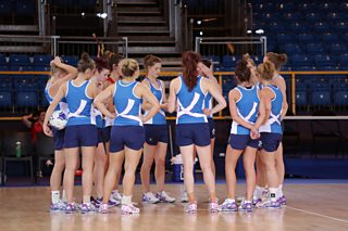 Team Scotland training in the Scottish Exhibition and Conference Centre