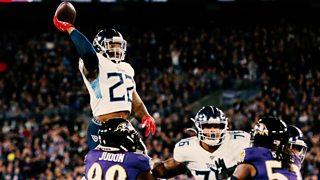 Tennessee Titans 28-12 Baltimore Ravens: Derrick Henry's soar-pass touchdown thumbnail