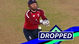 England v Australia: Jonny Bairstow drops easy chance as Aaron Finch survives thumbnail