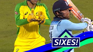 England v Australia: Jonny Bairstow hits Adam Zampa for two sixes in an over thumbnail
