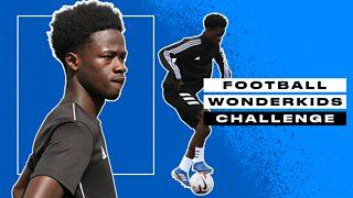 Manchester City and England's Darko Gyabi kicks off BBC Sport's Wonderkids challenge thumbnail