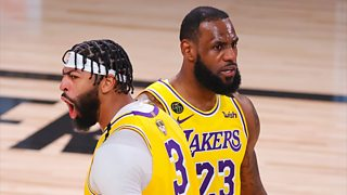 NBA Finals: Anthony Davis and Le Bron James lead Los Angeles Lakers to victory in game one thumbnail