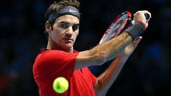 Tennis: World Tour Finals - 2014: Round Robin: Federer V Nishikori
