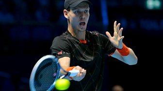 Tennis: World Tour Finals - 2014: Round Robin: Berdych V Cilic