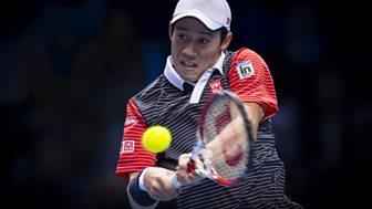Tennis: World Tour Finals - 2014: Round Robin: Nishikori V Ferrer