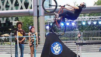Blue Peter - Bike Stunts And Dance Challenge
