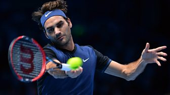 Tennis: World Tour Finals - 2015: Day 5: Federer V Nishikori