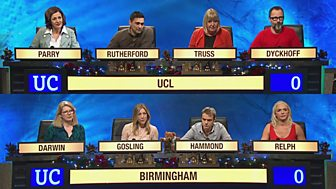 University Challenge - Christmas 2015: 1. Ucl V Birmingham