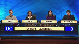 University Challenge - Christmas 2015: 4. Christ's, Cambridge V Essex