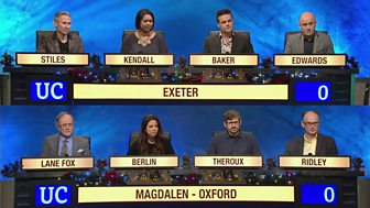 University Challenge - Christmas 2015: 5. Exeter V Magdalen, Oxford