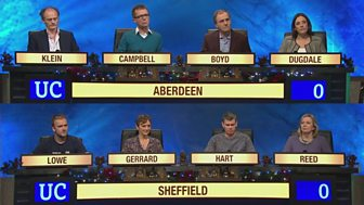 University Challenge - Christmas 2015: 6. Aberdeen V Sheffield