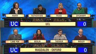 University Challenge - Christmas 2015: 9. Semi-final 2