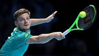 Tennis: World Tour Finals - 2017: Day 6 - Dominic Thiem V David Goffin