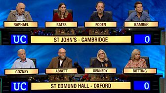 University Challenge - Christmas 2017: 5. St John's College, Cambridge V St Edmund Hall, Oxford