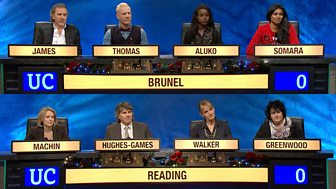 University Challenge - Christmas 2017: 7. Brunel University V Reading University