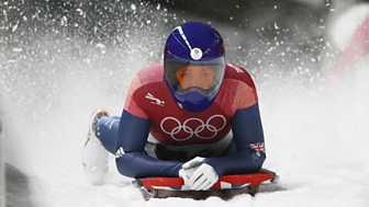 Winter Olympics - Bbc One Day 8: Yarnold And Deas In Women's Skeleton Final Action