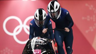 Winter Olympics - Bbc Two Day 12: Great Britain Women In Bobsleigh Action