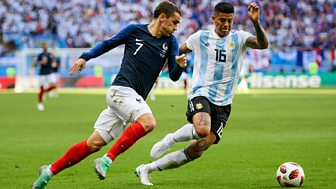 Match Of The Day Live - Round Of 16: France V Argentina