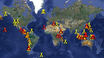 Bbc two volcano live live volcano webcams map of erupting volcanoes gumiabroncs Choice Image