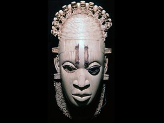 An ivory pendant from Benin, probably showing Queen Idia