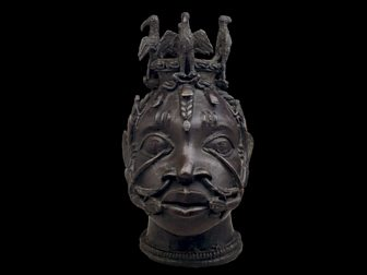 A brass head of Osun