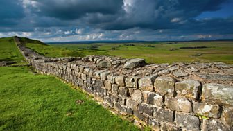Hadrian's Wall runs from Wallsend to Bowness and you can still walk along parts of it today.