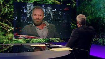 BBC Newsnight - Sting on celebrities and 'green hypocrisy'