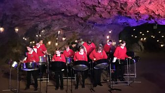 A performance in Clearwell Caves
