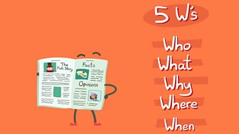 5 Ws for the question words who, what, why, where, when