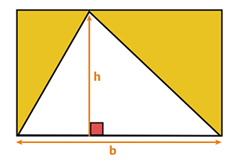 Triangle showing base times height