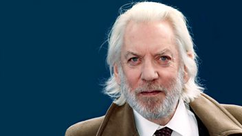 Screen image from Desert Island Discs: Donald Sutherland