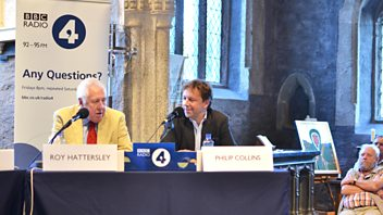 Programme image from Any Questions?: Lord Hattersley, Jacob Rees-Mogg, Jessica Mann, Philip Collins
