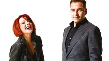 Programme image from Front Row: David Walliams and Sheridan Smith; poet Dannie Abse at 90; Booker Prize changes