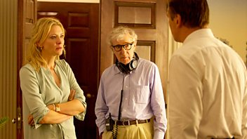 Programme image from Front Row: Woody Allen interview, with Sally Hawkins and Mike Leigh