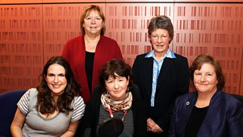 Programme image from Woman's Hour: Power List Scientists: Jocelyn Bell Burnell; Ann Dowling; Wendy Hall
